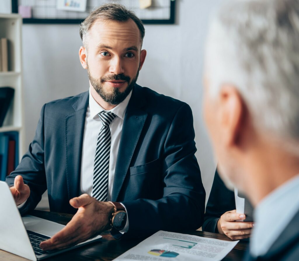 businessman consulting company